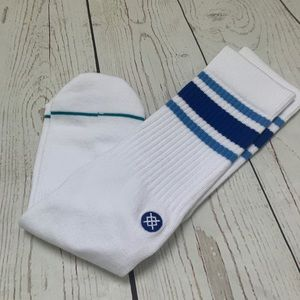 Men's blue and white stance sock NEW